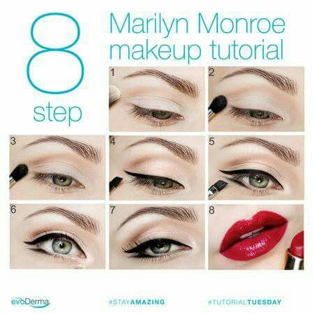 Outstanding Tutorial Step By Step Makeup Marilyn Monroe Makeup Home Interior And Landscaping Ologienasavecom