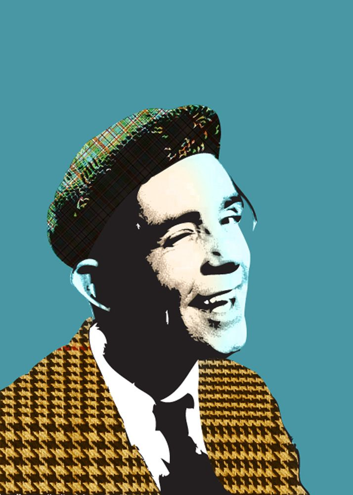 Norman Wisdom Poster   Original graphic poster art designed in The Northern Line studio in Ulverston, Cumbria. We ship worldwide. #posters #graphicart