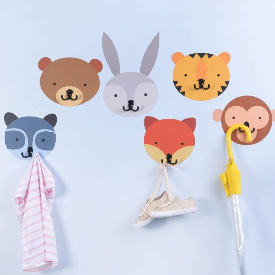 Coat Hook Animal Wall Sticker Childrens Coat Hooks Coat Hooks Kids Coat Hooks