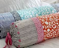 Neck Roll Pillow Covers Blue