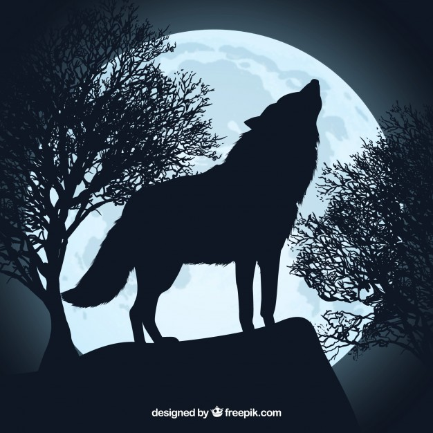 Howling Wolf Silhouette And Full Moon Wolf Silhouette Wolf Howling At Moon Wolf Howling
