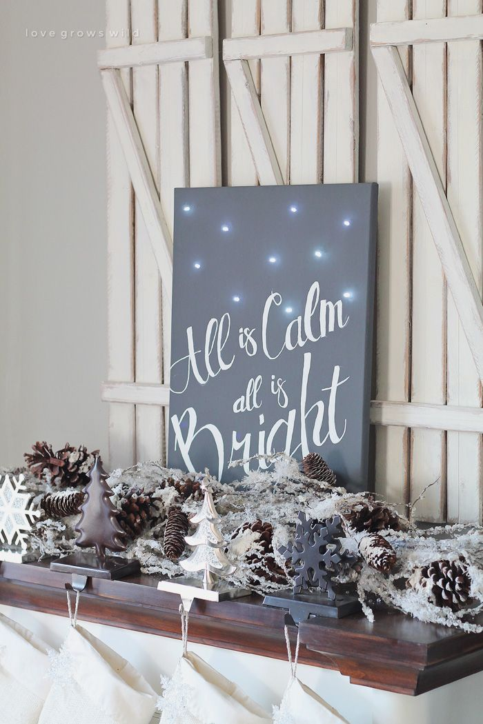 Silent Night Twinkle Light Canvas - Love Grows Wild