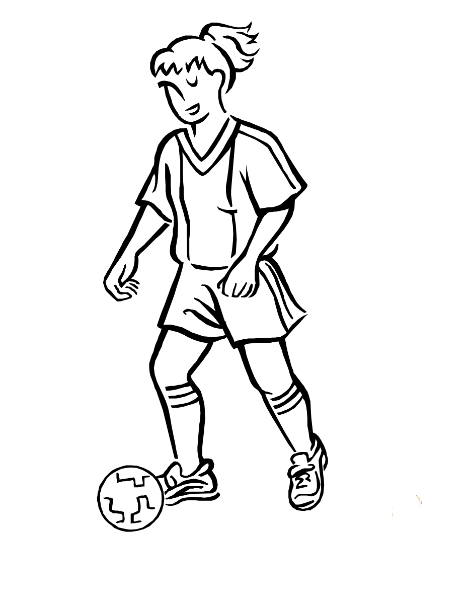 Women Play Soccer Sports Coloring Pages Play Soccer Sports Coloring Pages Football Coloring Pages Coloring Pages For Girls