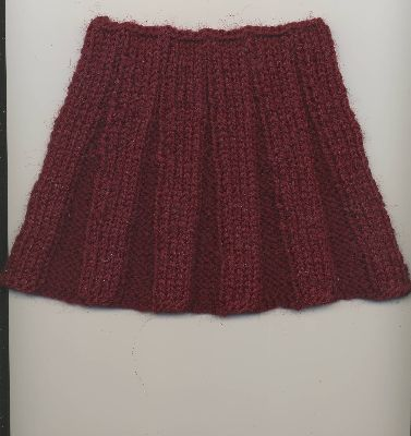 Узоры на юбках связанные спицами и схемы