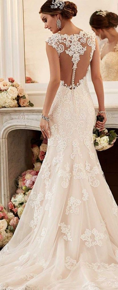 Elegant Stella York Spring Bridal Collection Lace Wedding Dresses Lace Weddings and Wedding dresses u Top fashion