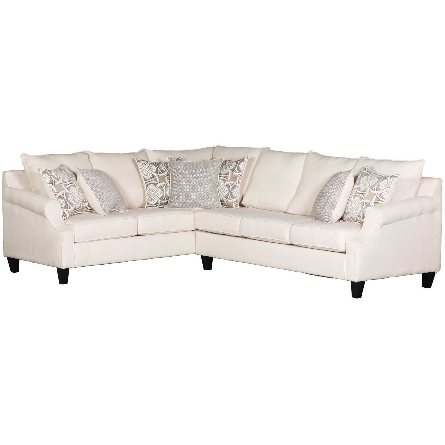 Best Amplify Beige 2 Piece Laf Sofa Chaise Sectional Cream 400 x 300