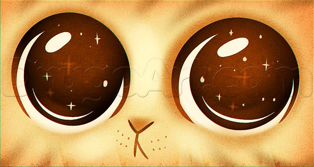 Глаза няшные рисунок