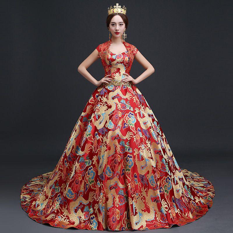 7806113d183f2 Popular Dragon Wedding Dress-Buy Cheap Dragon Wedding Dress lots ...