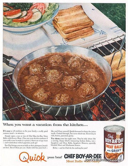 Chef Boy-Ar-Dee Meat Balls with Gravy