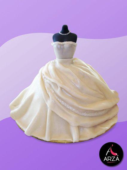 arzá repostería: tarta vestido de novia fondant   vestido novia
