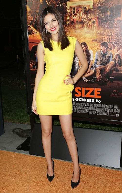 Victoria Justice Looks Good in Yellow