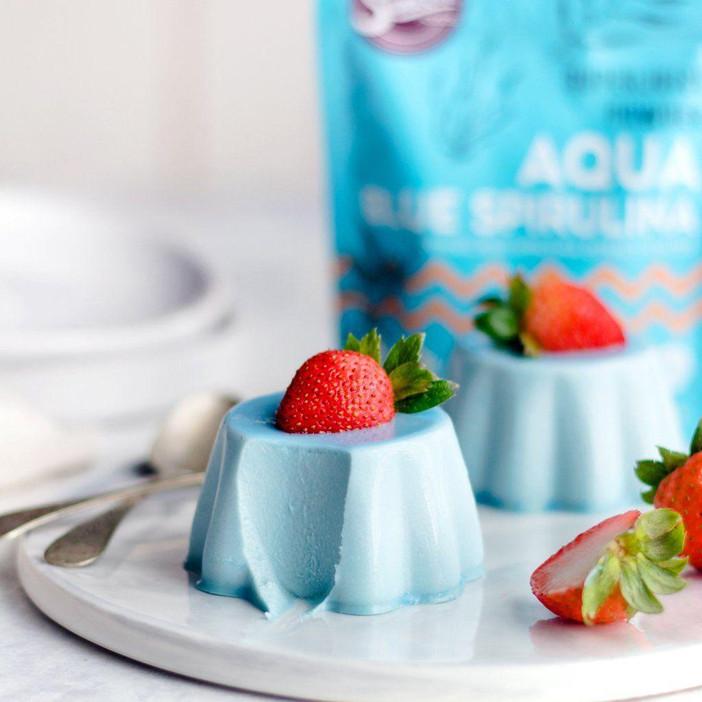 Aqua Blue Spirulina Panna Cotta