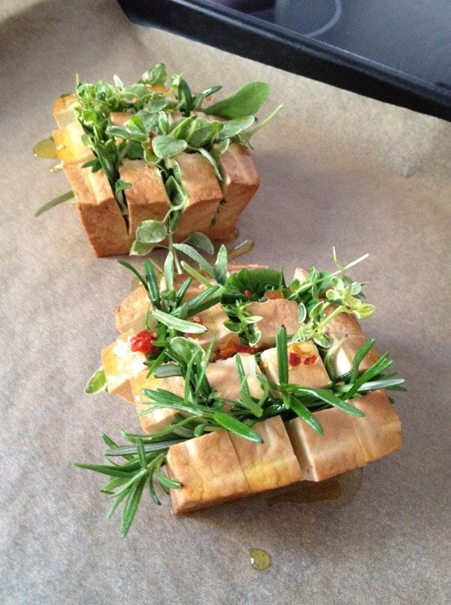 Photo of Smoked tofu recipe for the oven: Baked smoked tofu with …