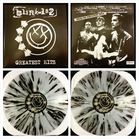 Blink 182 Greatest Hits Vinyl Lp Record Color New Sealed Blink 182 S Greatest Hits Album On A Hot Topic Blink 182 Greatest Hits Blink 182 Vinyl Record Player