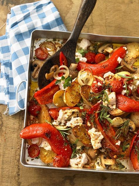 Mediterranes Ofengemüse #spitzkohlrezeptehackfleisch