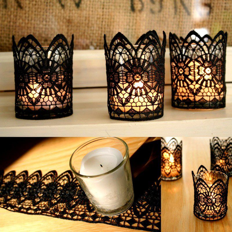 DIY Lace CandlesIt\u0027s ashameAs much as I love laceI don\u0027t own a
