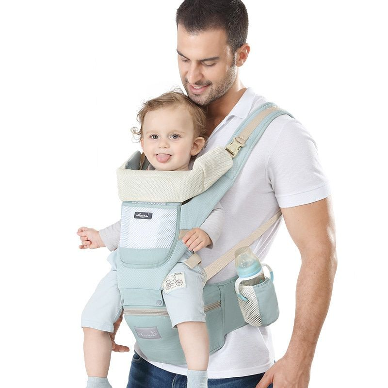 Portable Baby Carrier Infant Kid Backpack Hipseat Hip Seat Easy Carry Newborn