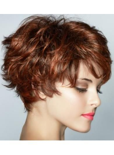 Graceful Short Feathered Pixie Haircut With Wispy Bangs Synthetic Hair