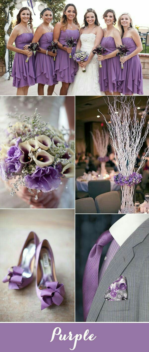 Purple and grey is one of the most popular wedding color palettes of all  time.In this post you find seven fabulous purple and grey wedding color  palettes ...