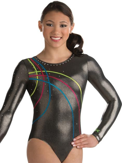 Fancy Zig Zag Trim Competition Leotard from GK Elite  13aed371f7f