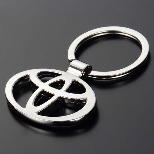 Shiny Metal Key Chain with Carbon Fiber Design