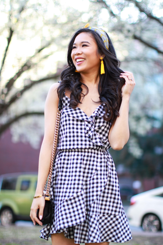7aee5077d120 Black and white gingham dress