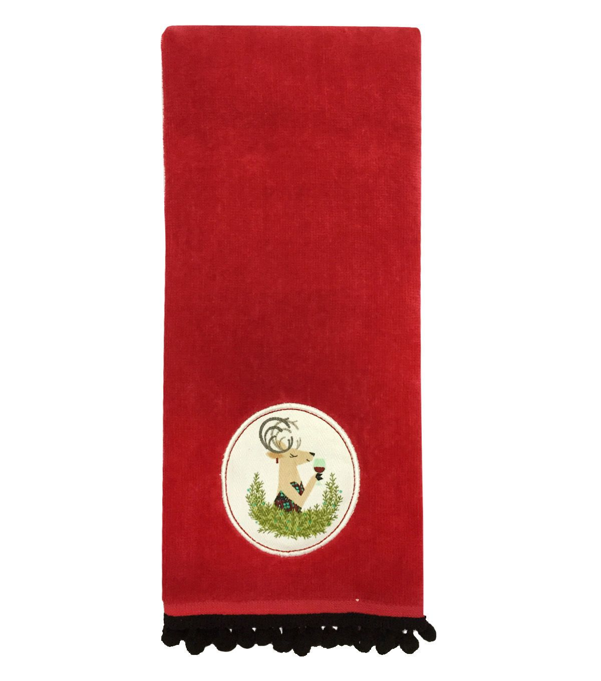 Maker's Holiday Terry Towel-Red Deer