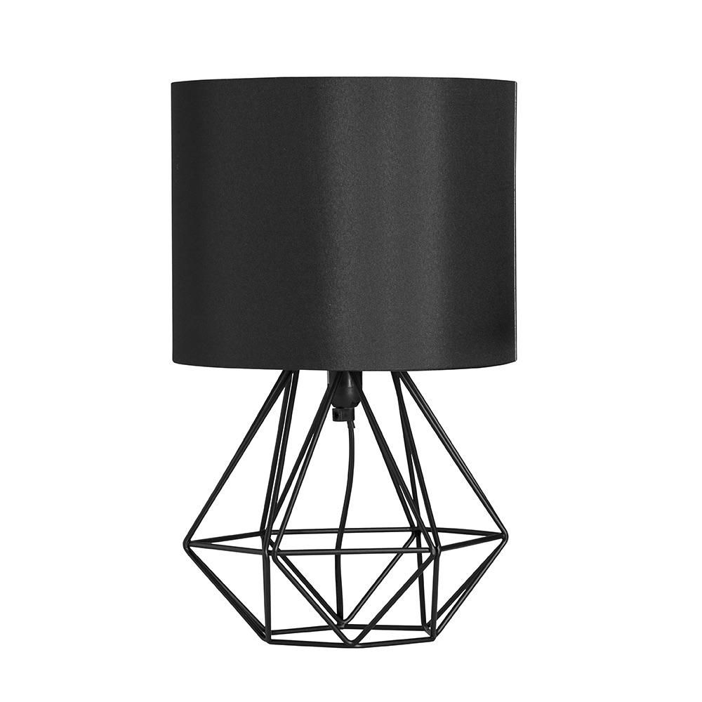 Captivating Geo Belly Table Lamp Black Nice Design