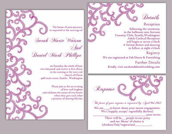Bollywood Wedding Invitation Template Download Printable