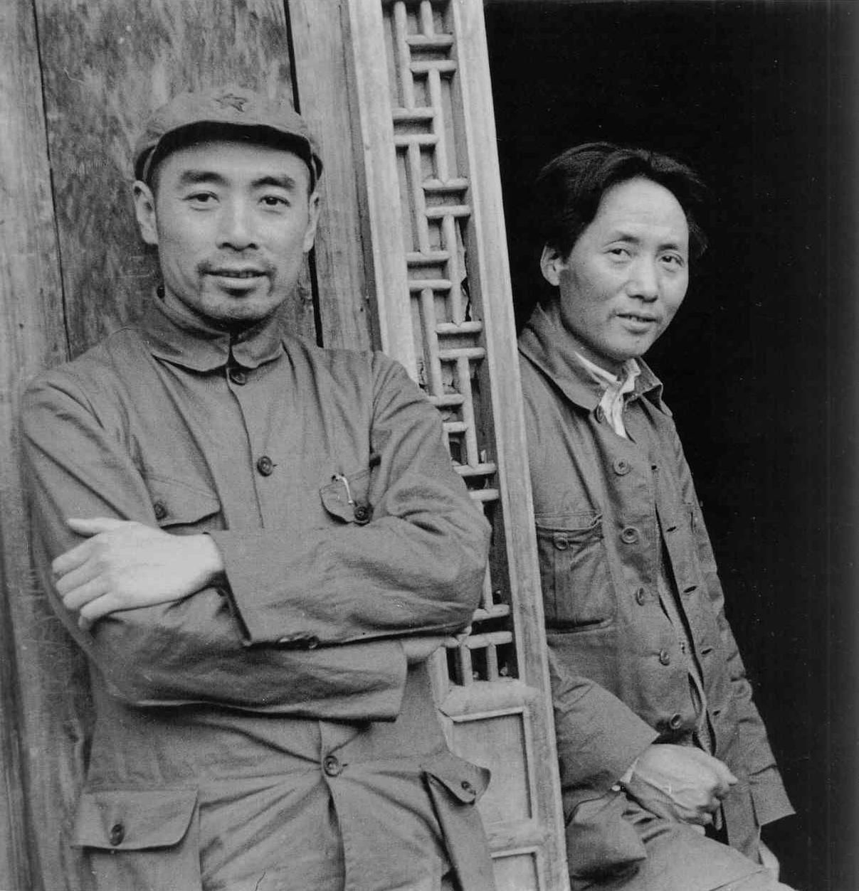 Chinese Communist leaders Zhou Enlai and Mao Zedong in 1935.