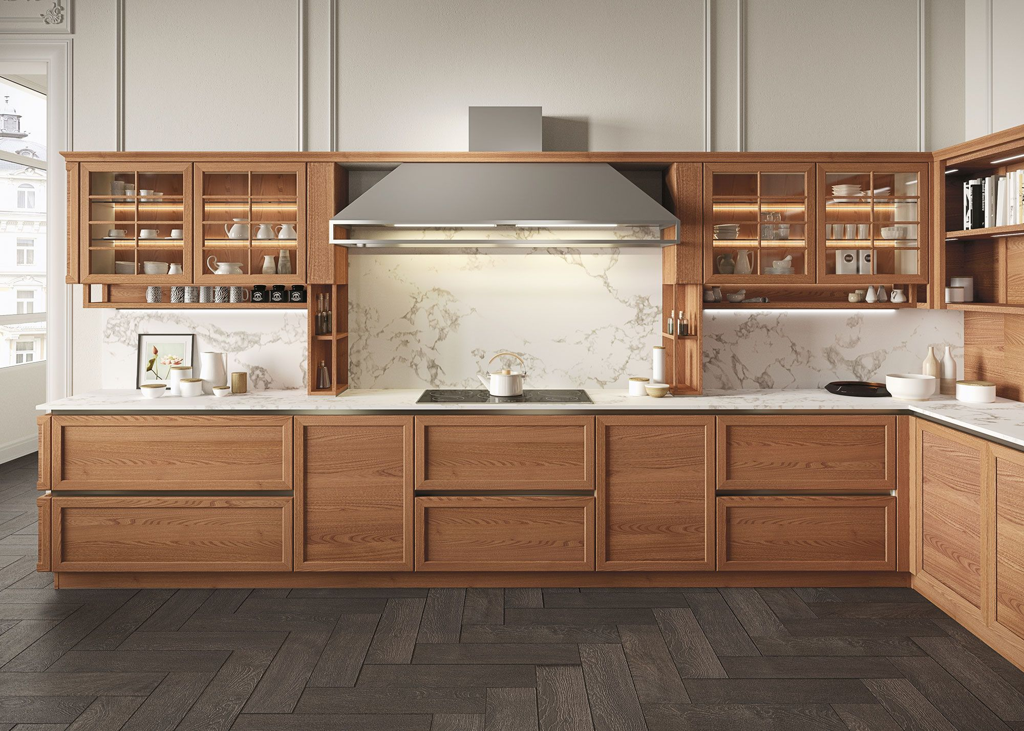Schienale Cucina Vetro Retroilluminato Airy And Light Snaidero Heritage Is An Open Work Modular System