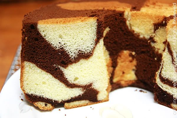 Marble Cake Recipes In Microwave: Chocolate Marble Chiffon2