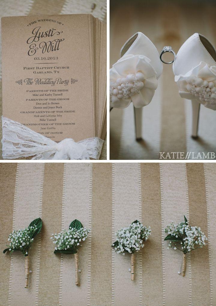 Kraft Wedding Program