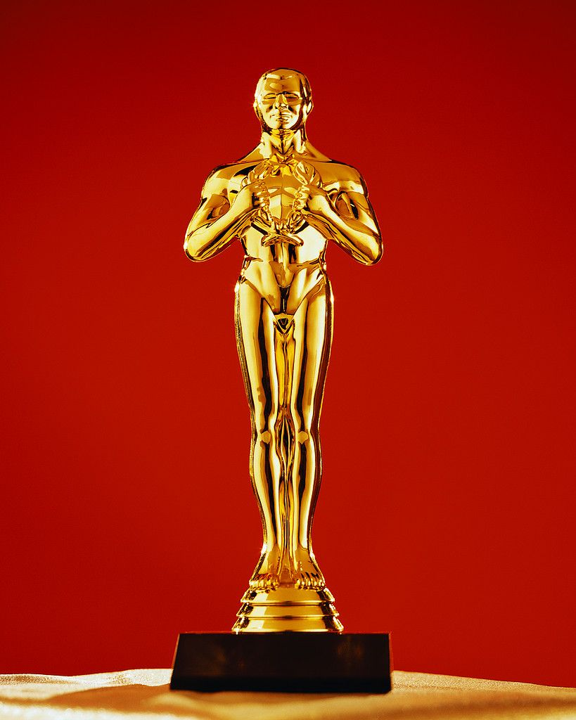 oscar statue as prop production design fbe celebrities react
