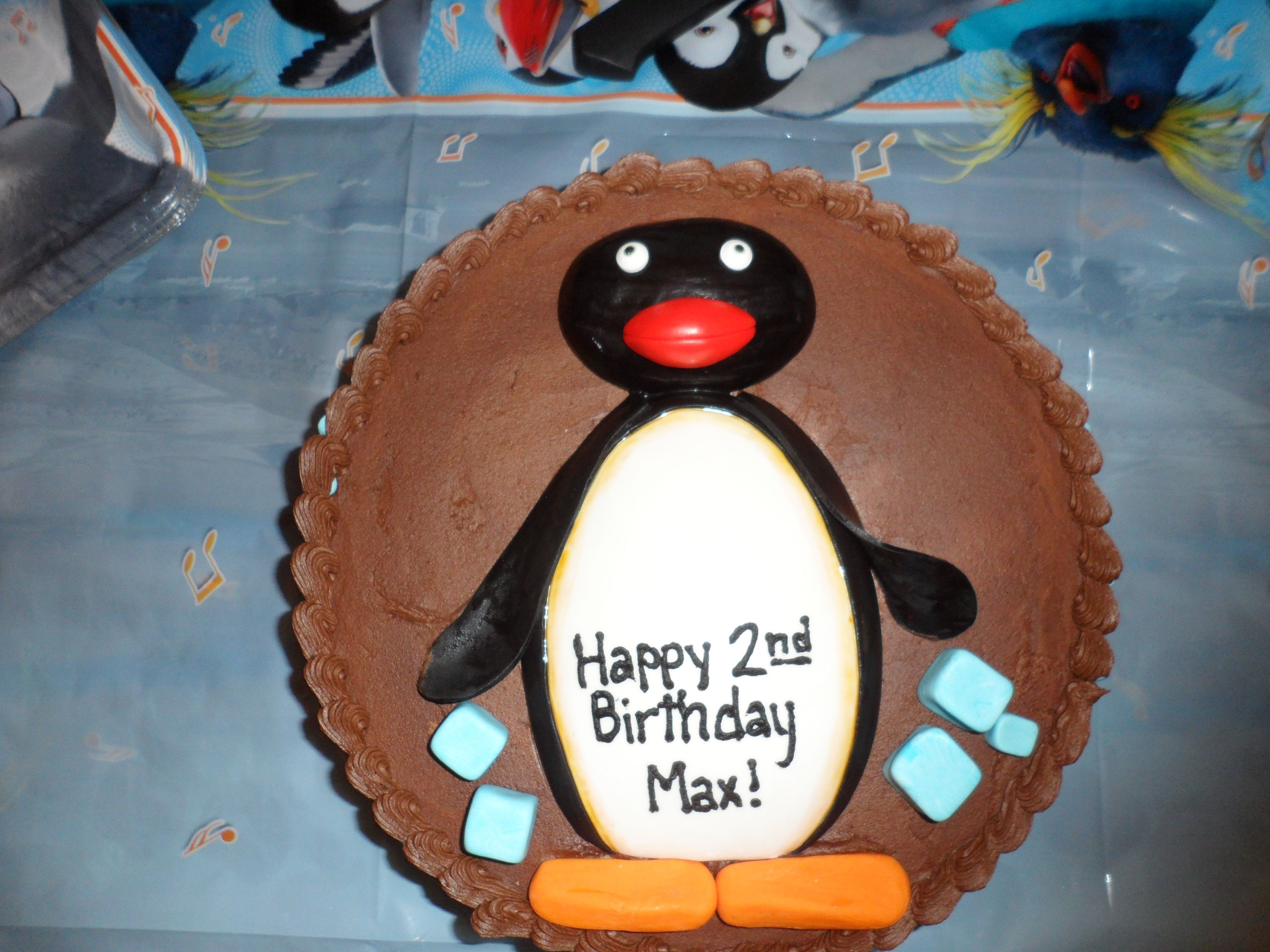 Max Hamel 2nd BDay Party Pingu Cake by & Beyond Cakes