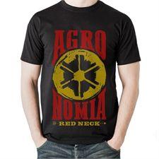 Camiseta Made In Lida Agronomia (Preta com Vermelha)  6bc4dfb88a1
