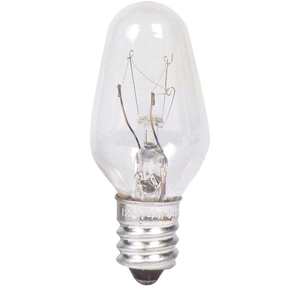 Philips 7-Watt C7 Clear Night Light Bulbs (4-Pack)