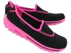 Skechers Womens GO WALK blackpink lightweight slip on shoes #SKECHERSThanksPinToWin