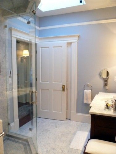 A Good Picture Showing The Molding Around Two Doors Very Close To Each Other Baseboard Styles Door Design Interior Bathroom Interior Design