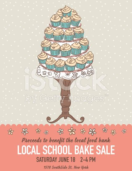 Fun Doodle Style Bake Sale Poster Template In The Center There Is