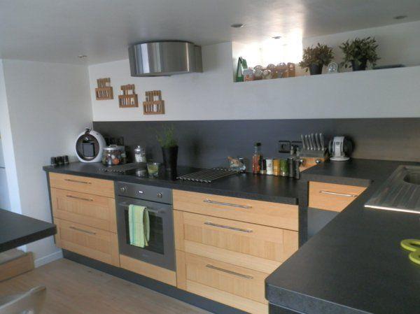 Cool Idée Relooking Cuisine La Cuisine Bois Et Noir Cest Le - Cuisiniere vitroceramique pyrolyse pour idees de deco de cuisine