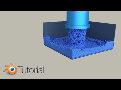 Massive Particle Fluid Simulation, Blender Tutorial (Cycles