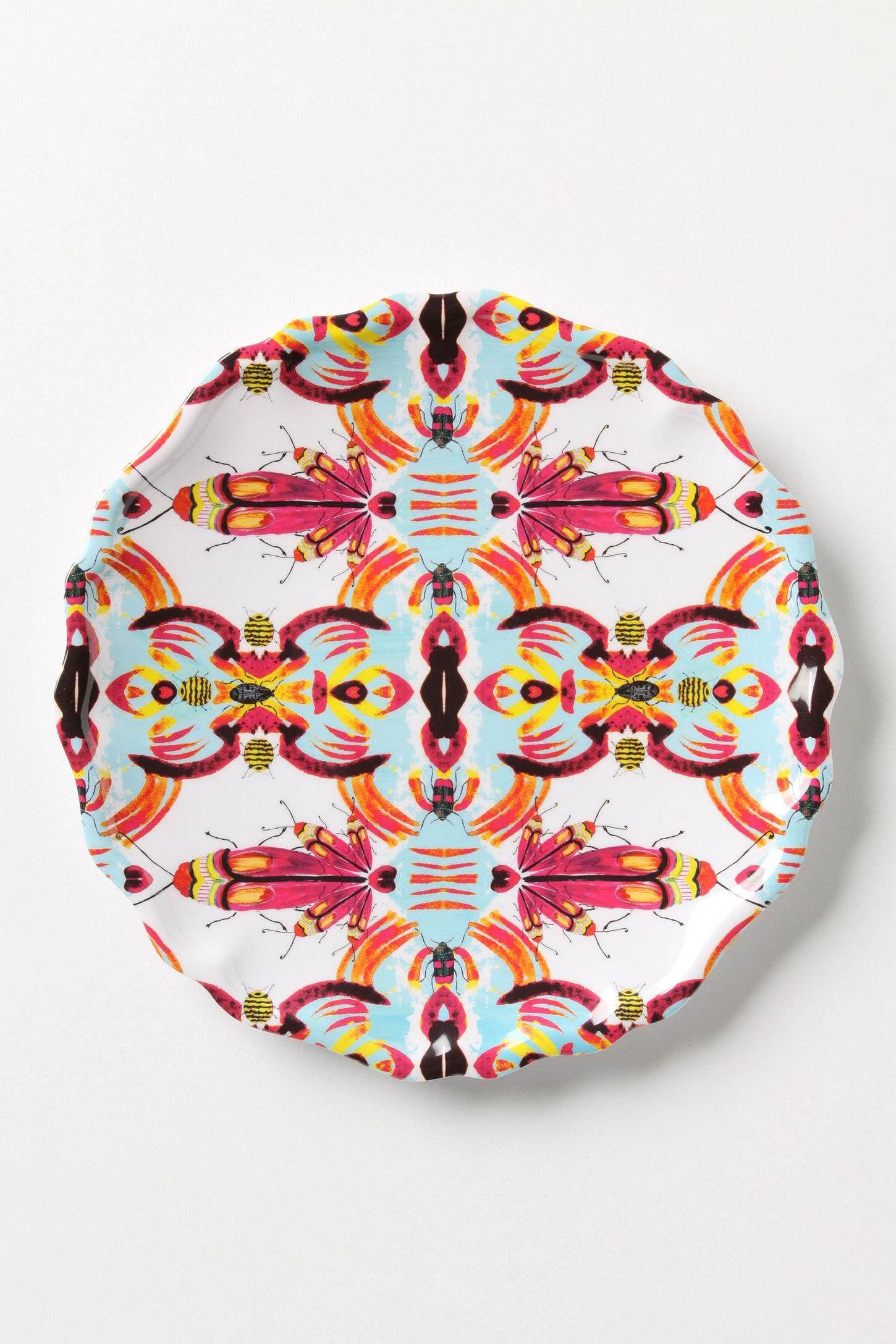 Kaleidobug Melamine Plate - Anthropologie.com  sc 1 st  Pinterest & Kaleidobug Melamine Plate - Anthropologie.com | Insect Obsession ...