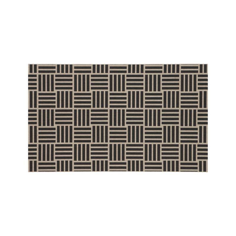 Koen Tile Indoor-Outdoor 5'x8' Rug  | Crate and Barrel