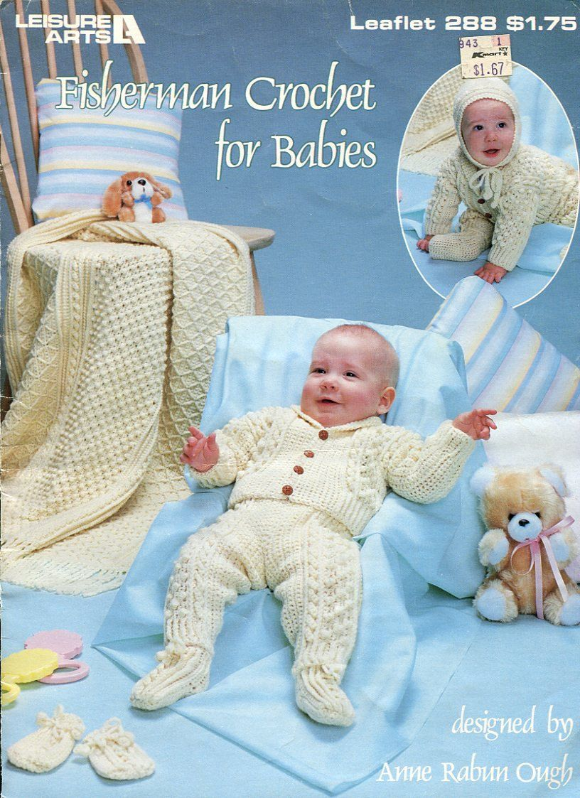Fisherman Crochet for Babies Pattern - Leisure Arts 288 - Bunting ...