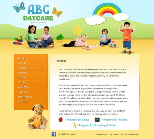 Home Daycare Design Ideas: Childcare Website Templates