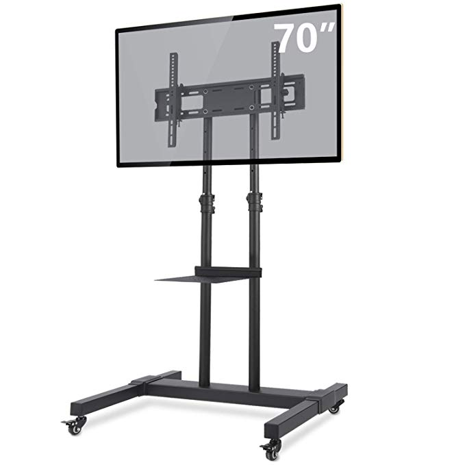 Amazon Com Tavr Mobile Tv Stand Rolling Tv Cart Floor Stand With