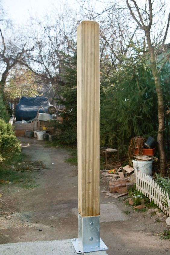 How to anchor post to concrete | Diy deck, Deck posts ...