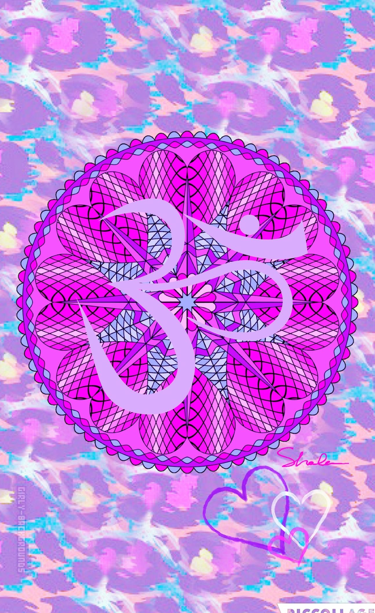 Wallpaper iphone mandala - Mandala Om By Me