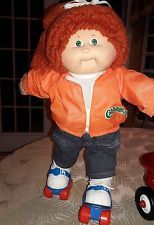 1986 Cabbage Patch Kids Girl Poodle Red Hair Dressed Roller Skates Rare Cabbage Patch Babies Cabbage Patch Kids Dolls Cabbage Patch Dolls